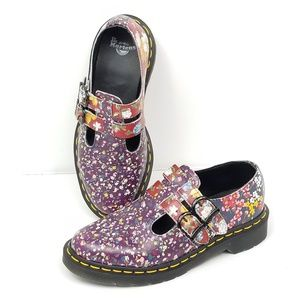 Dr Martens Mary Jane Shoes Floral Hippy Hipster